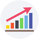 graph, Business, Stats, statistics, graphic, Bar chart, Business And Finance, Seo And Web WhiteSmoke icon