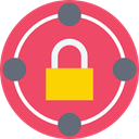 Tools And Utensils, Lock, secure, security, padlock, locked IndianRed icon