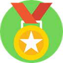 award, medal, winner, Champion, Sports And Competition YellowGreen icon