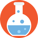 chemical, Test Tube, Flasks, science, education, Chemistry, flask Tomato icon