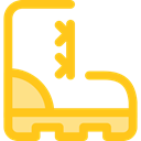 Climbing, fashion, footwear, Boot, Clothes Gold icon