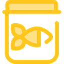 fish, Fishing, Canned Food, Food And Restaurant Gold icon