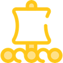 transportation, Boat, sail, rural Gold icon