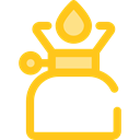 miscellaneous, fire, Gas, Flame, Cook, Camping, Cooking Gold icon