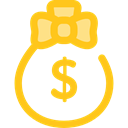 Business, Money, Currency, Bank, banking, money bag, Dollar Symbol, Business And Finance Gold icon