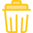 Basket, Bin, Garbage, Can, Tools And Utensils, miscellaneous, Trash, interface Gold icon