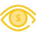 view, medical, interface, Eye, visible, Visibility, Seo And Web Gold icon