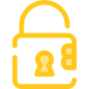locked, Lock, secure, security, padlock, Tools And Utensils Gold icon
