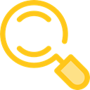 search, magnifying glass, zoom, detective, Loupe, Seo And Web Gold icon