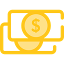 Notes, Business, Money, Cash, Currency, Business And Finance Gold icon