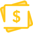 Cash, Currency, Business And Finance, Notes, Business, Money Gold icon
