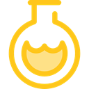science, education, Chemistry, flask, chemical, Test Tube, Flasks Gold icon