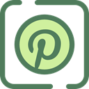 social media, social network, logotype, pinterest, Logos, Brands And Logotypes, Logo DimGray icon