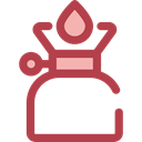 Gas, Flame, Cook, Camping, Cooking, miscellaneous, fire Sienna icon