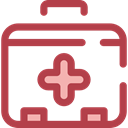 doctor, medical, hospital, first aid kit, Health Care, Healthcare And Medical Sienna icon
