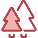 nature, landscape, Forest, woods, trees, pines Sienna icon
