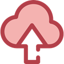 Cloud computing, Multimedia Option, Multimedia, upload, Data, interface, storage, ui LightPink icon