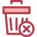 delete, Trash, interface, ui, Garbage Can, Garbage Bin, Rubbish Bin, Rubbish Can Sienna icon