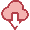 ui, Cloud computing, Multimedia Option, Multimedia, download, Data, interface, storage LightPink icon