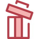 delete, Trash, Bin, Garbage, Can, ui, recycling, Multimedia Option, Ecology And Environment Sienna icon