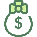 money bag, Dollar Symbol, Business And Finance, Business, Money, Currency, Bank, banking DimGray icon