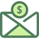 Cash, Currency, Charity, envelope, Business, Money, Business And Finance DimGray icon