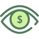 Eye, visible, Visibility, Seo And Web, view, medical, interface DimGray icon