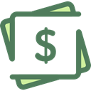 Currency, Business And Finance, Business, Money, Cash, Notes DimGray icon