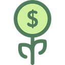plant, investment, Bank, growth, Business, Money, Currency, Business And Finance Black icon