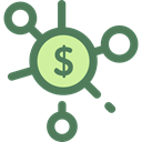 Business, Money, Coins, Cash, stack, Currency, Seo And Web DimGray icon