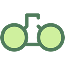 Binoculars, Eye, ui, see, spy, Goggles, sight, Tools And Utensils Black icon