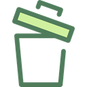 Bin, Garbage, Can, ui, recycling, Multimedia Option, Ecology And Environment, delete, Trash Black icon