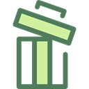 delete, Trash, Bin, Garbage, Can, ui, recycling, Multimedia Option, Ecology And Environment DimGray icon