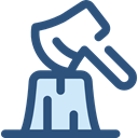 Ax, chopping, Woodcutter, Construction And Tools DarkSlateBlue icon