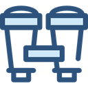 miscellaneous, Binoculars, Eye, binocular, see, spy, Goggles, sight DarkSlateBlue icon