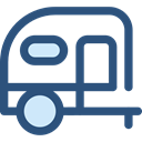 Holidays, summer, Trailer, Caravan, transportation, travel, transport, vehicle, Camping DarkSlateBlue icon