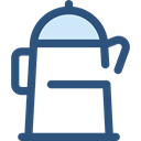 Coffee, food, kettle, hot drink, kitchenware, Tools And Utensils, Coffee Pot, Food And Restaurant DarkSlateBlue icon