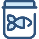 fish, Fishing, Canned Food, Food And Restaurant DarkSlateBlue icon