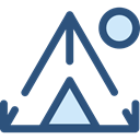 travel, nature, Camping, Forest, Tent, woods, rural DarkSlateBlue icon