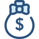 Business And Finance, banking, money bag, Dollar Symbol, Business, Money, Currency, Bank DarkSlateBlue icon