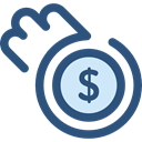coin, Coins, Cash, Business, Money, stack, Currency, Business And Finance DarkSlateBlue icon