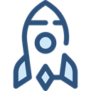 transportation, transport, Space Ship, Rocket Ship, Space Ship Launch, Rocket Launch, Rocket DarkSlateBlue icon