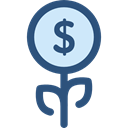 Money, Currency, investment, Bank, growth, Business And Finance, plant, Business Black icon