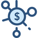 Business, Money, Coins, Cash, stack, Currency, Seo And Web DarkSlateBlue icon
