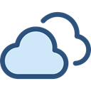 Cloudy, sky, meteorology, Cloud, weather, Clouds Black icon