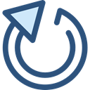 Circular Arrow, loading, Direction, ui, Multimedia Option, Arrows, Reload, Orientation DarkSlateBlue icon