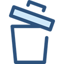 Garbage, Can, ui, recycling, Multimedia Option, Ecology And Environment, delete, Trash, Bin Black icon
