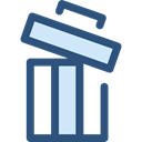 delete, Trash, Bin, Garbage, Can, ui, recycling, Multimedia Option, Ecology And Environment DarkSlateBlue icon