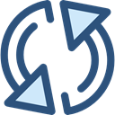 Multimedia, Arrows, Reload, refresh, Orientation, Direction, ui, Multimedia Option DarkSlateBlue icon