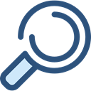 search, magnifying glass, zoom, detective, Loupe, Tools And Utensils, Seo And Web DarkSlateBlue icon